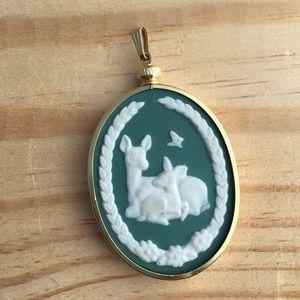 Vintage Franklin Porcelain Mother's Day Deer Cameo